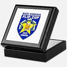 West Virginia Flip Cup State Keepsake Box