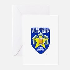 West Virginia Flip Cup State Greeting Cards (Pk o