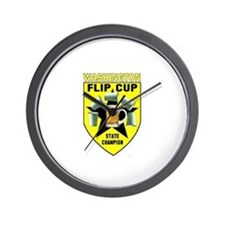 Washington Flip Cup State Cha Wall Clock