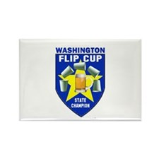 Washington Flip Cup State Cha Rectangle Magnet