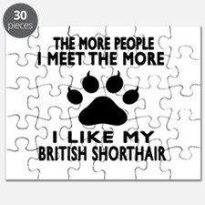 I Like My British Shorthair Cat Puzzle