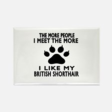 I Like My British Shorthair Cat Rectangle Magnet