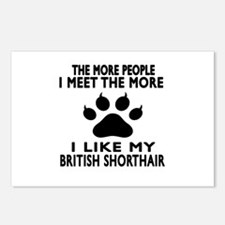 I Like My British Shortha Postcards (Package of 8)