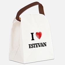 I love Estevan Canvas Lunch Bag