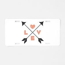 Love Arrows Aluminum License Plate