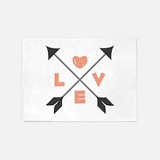 Love Arrows 5'x7'Area Rug