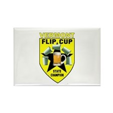 Vermont Flip Cup State Champi Rectangle Magnet