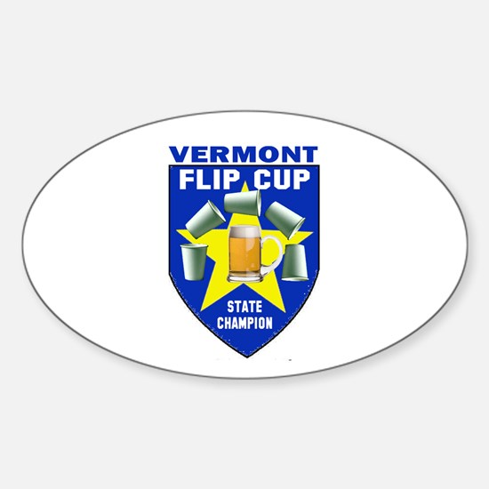 Vermont Flip Cup State Champi Oval Decal