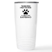 I Like My Bambino Cat Travel Mug