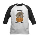 Happy Turkey Day Thanksgiving Kids Baseball Jersey