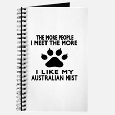 I Like My Australian Mist Cat Journal