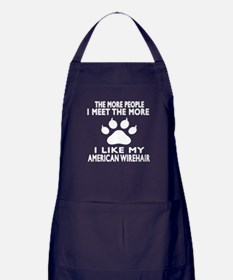 I Like My American Wirehair Cat Apron (dark)