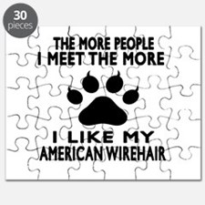 I Like My American Wirehair Cat Puzzle