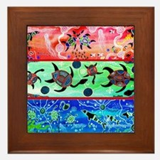 Rainbow Dolphins & Turtles Framed Tile