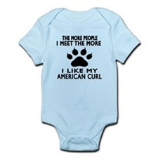 I Like My American Curl Cat Infant Bodysuit