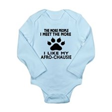 I Like My Afro-chausie Long Sleeve Infant Bodysuit