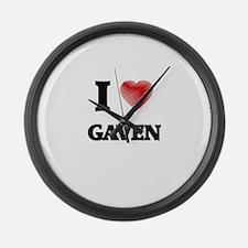 I love Gaven Large Wall Clock