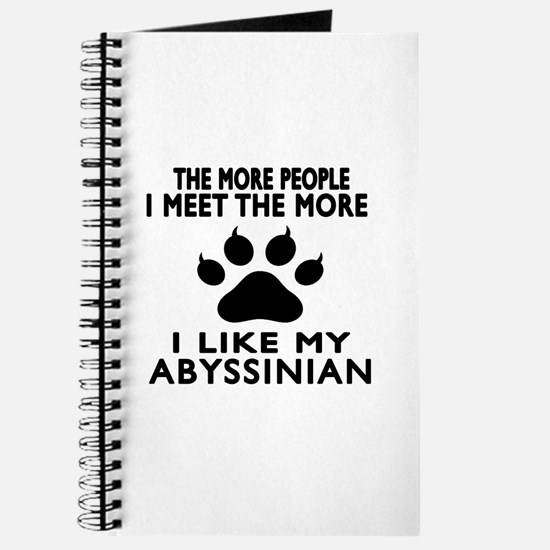 I Like My Abyssinian Cat Journal