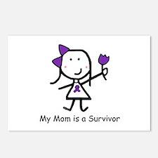 Purple Ribbon - Mom Survivor Postcards (Package of