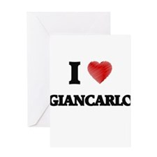I love Giancarlo Greeting Cards