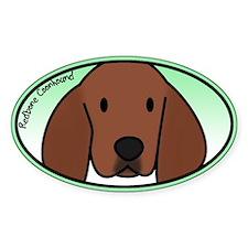 Anime Redbone Coonhound Oval Decal