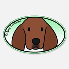 Anime Redbone Coonhound Oval Decal