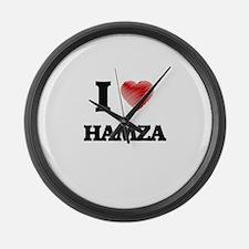 I love Hamza Large Wall Clock