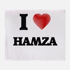 I love Hamza Throw Blanket
