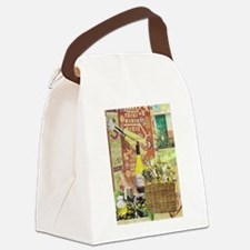 Wine and Cheese Canvas Lunch Bag