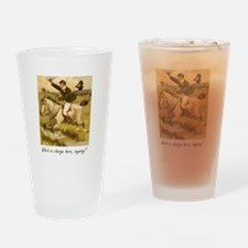 Equestrian Trainer - Who's in charg Drinking Glass