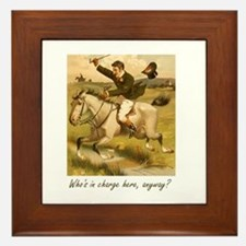 Equestrian Trainer - Who's in charge h Framed Tile