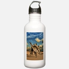 Stegosaurus dinosaur in the desert Water Bottle