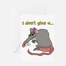 I don't give a rat's... Greeting Cards