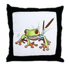 """""""Frog 1"""" Throw Pillow"""