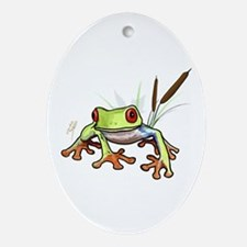 """""""Frog 1"""" Oval Ornament"""