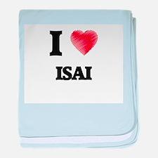 I love Isai baby blanket