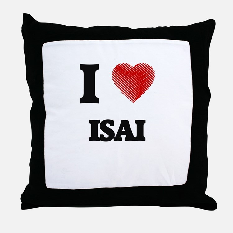 I love Isai Throw Pillow