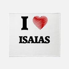 I love Isaias Throw Blanket