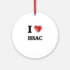 I love Issac Round Ornament