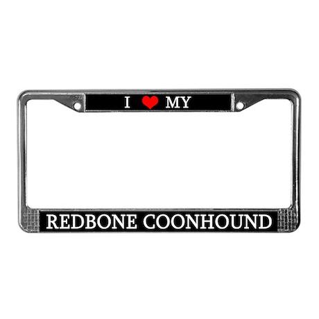 Love Redbone Coonhound License Plate Frame