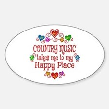 Country Happy Place Sticker (Oval)