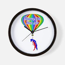 MoveOn.org Hot Air Parody Wall Clock