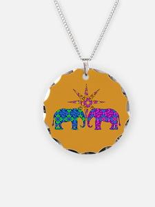Orange Elephant Love Necklace
