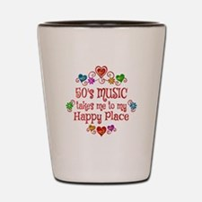 50s Music Happy Place Shot Glass