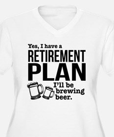Brewing Beer Retirement Plan Plus Size T-Shirt