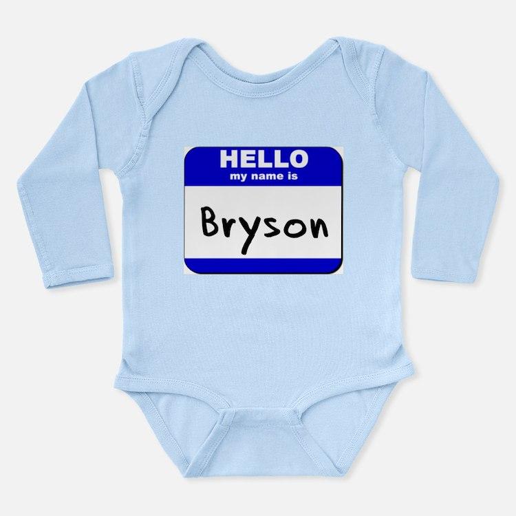 Cute Bryson city Long Sleeve Infant Bodysuit