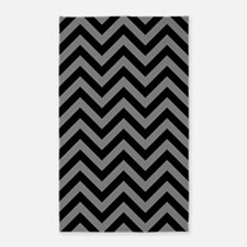 Zigzags Blk/grey Area Rug