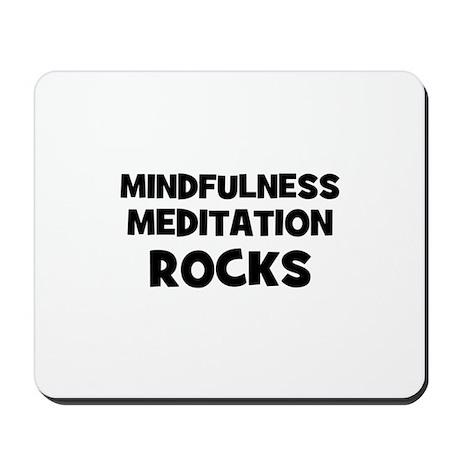 Mindfulness Meditation Rocks Mousepad