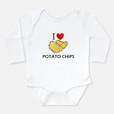Cute I love potatoes Long Sleeve Infant Bodysuit