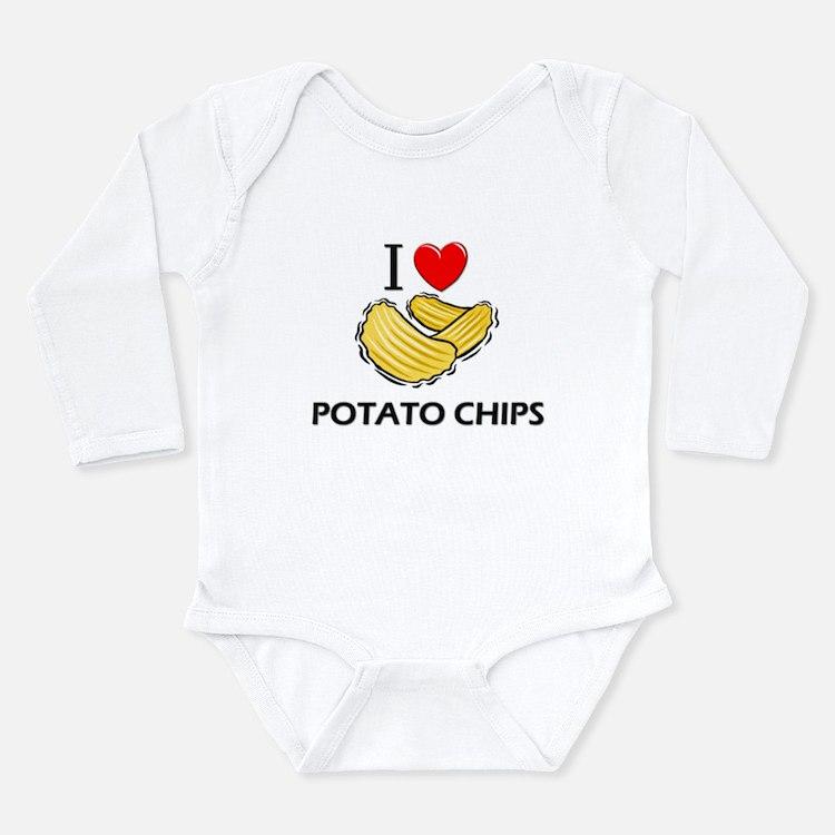 Cute Potato chip Long Sleeve Infant Bodysuit